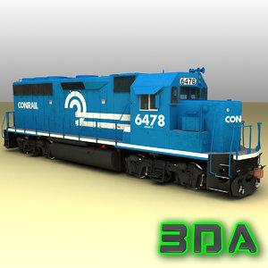 emd gp40-2 engines locomotive max