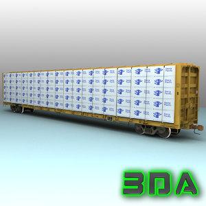 f483 centerbeam rails ttx 3d max