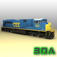 emd sd70ace locomotive engines 3d max