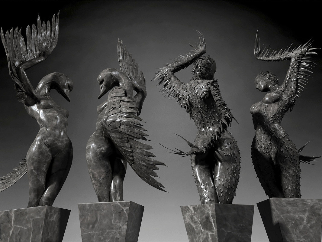 statue swan black max