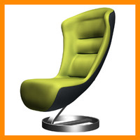 3d lounge chair klaeber model
