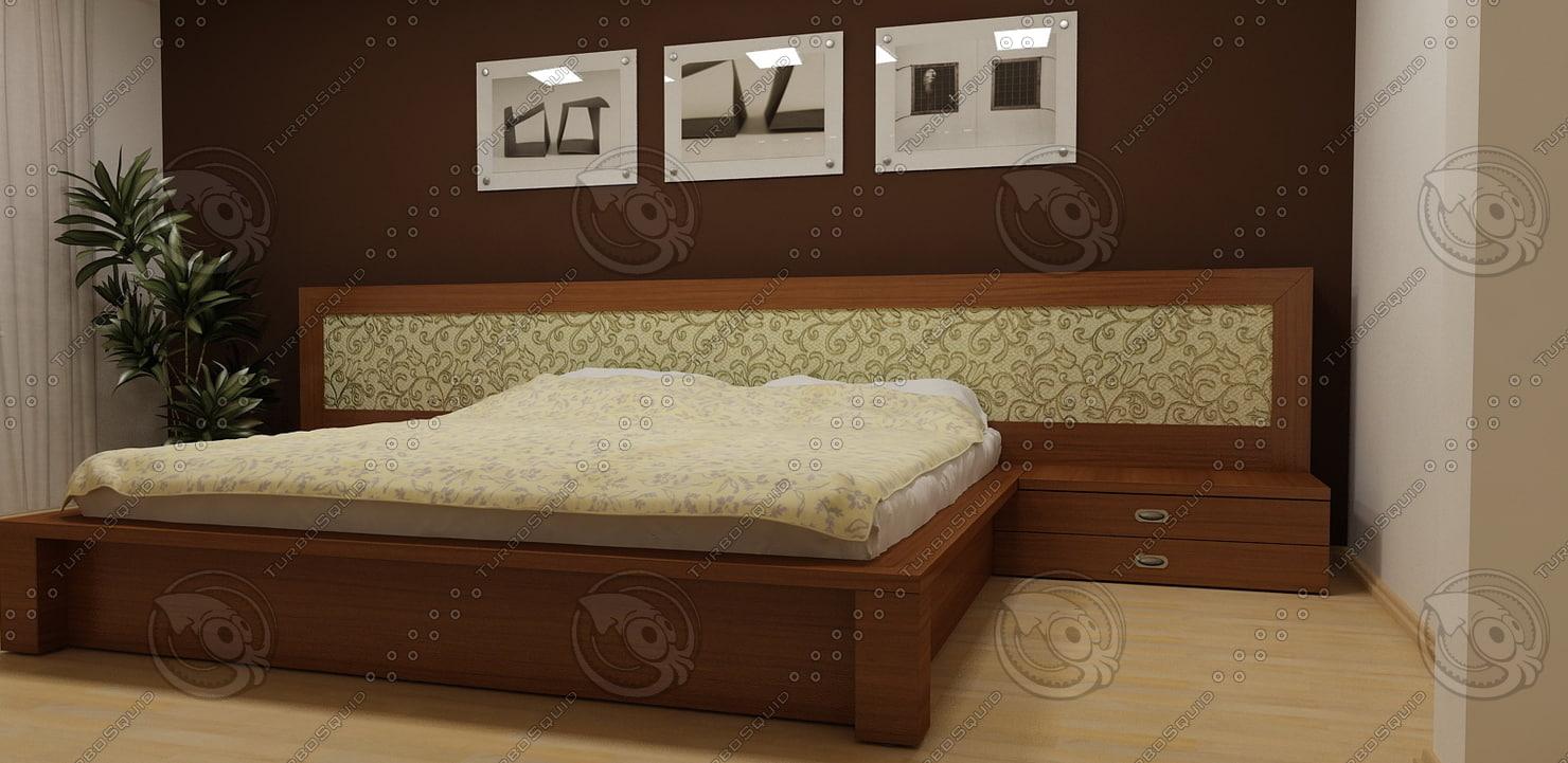 3d realistic bed model