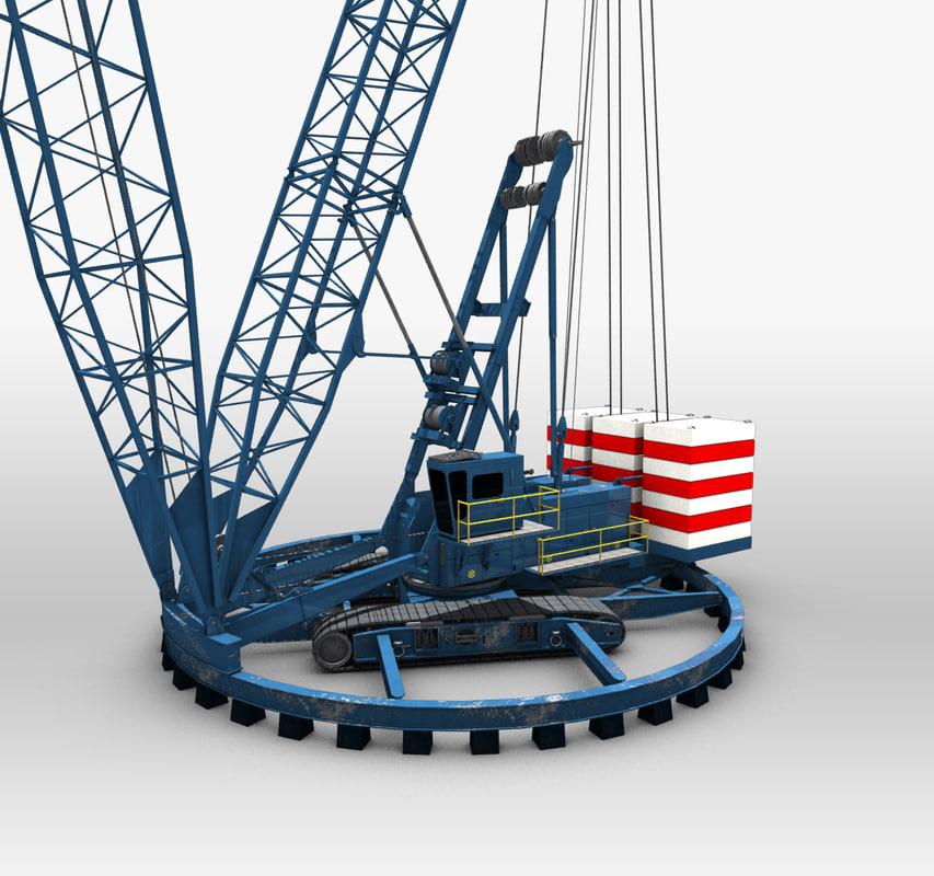 ringer crane construction 3d max
