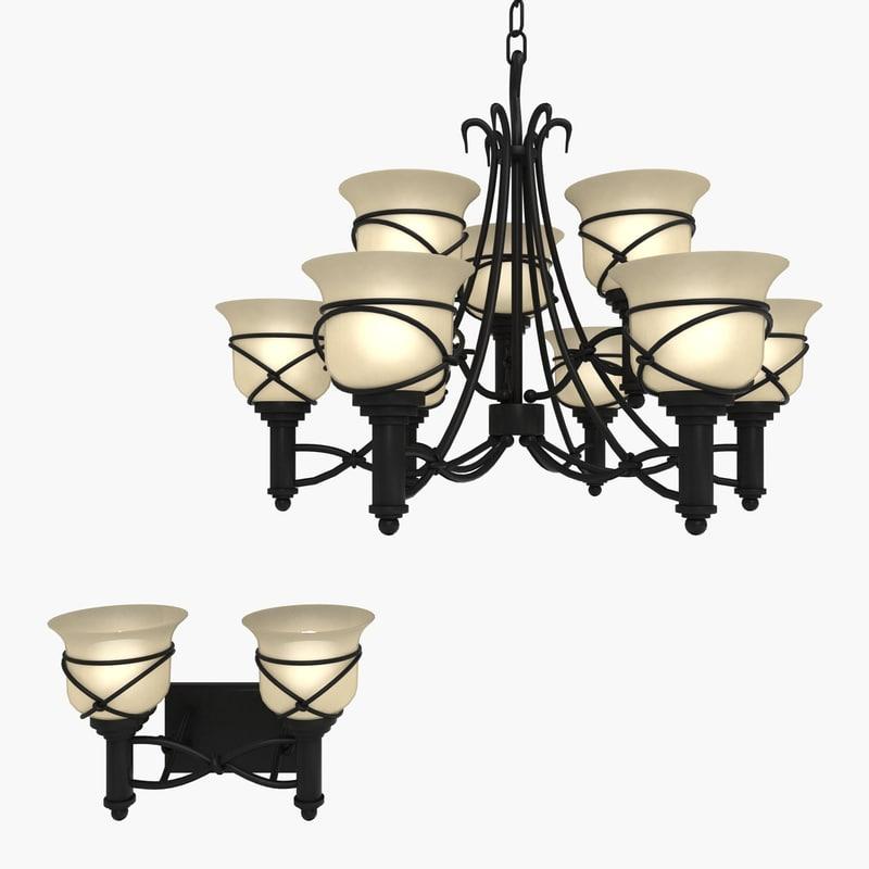 obj twist chandelier sconce light