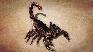 3d rigged scorpion