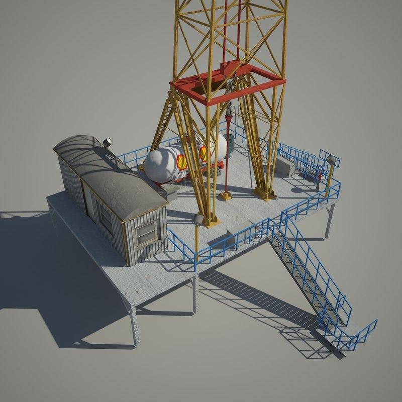 oil tower 3d model