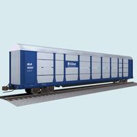 3d model train car