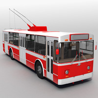 bus trolleybus trolley 3d model