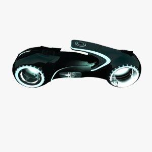 tron light bike 3d model
