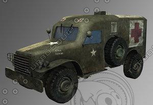 3d model army van