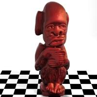 3dsmax sculpture idol
