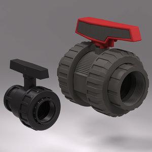 3d model plastic valves