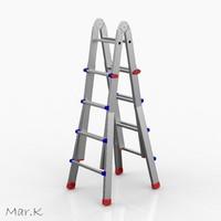 aluminum ladder obj