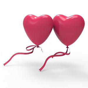 3dsmax heart balloon ribbon