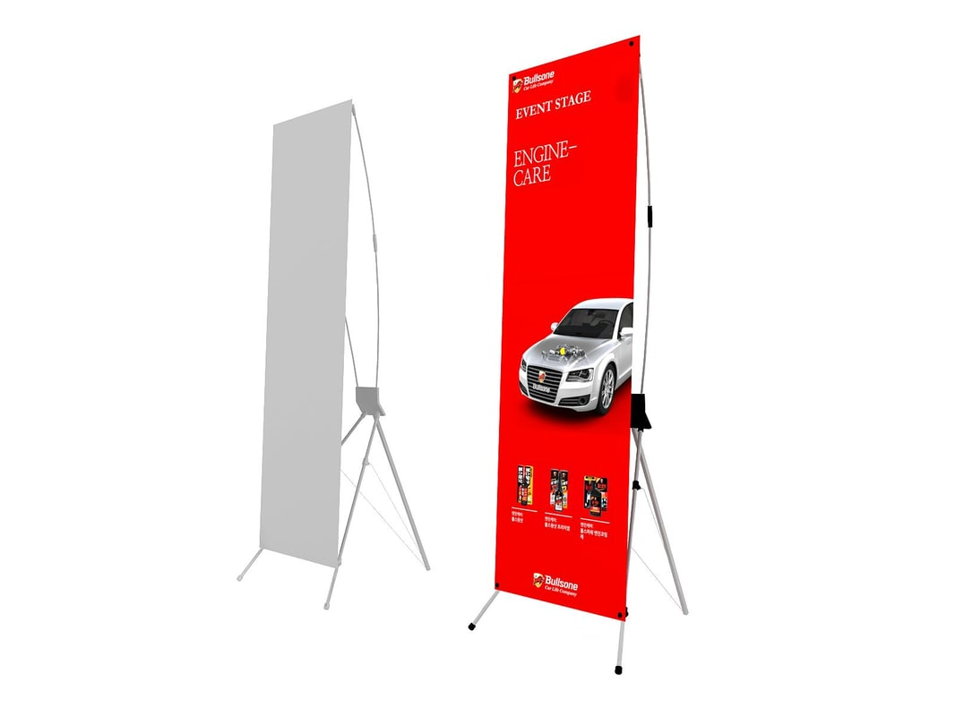 x-banner exhibition 3d 3ds