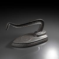 3d old antique iron model