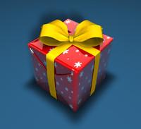 3d model christmas present 2