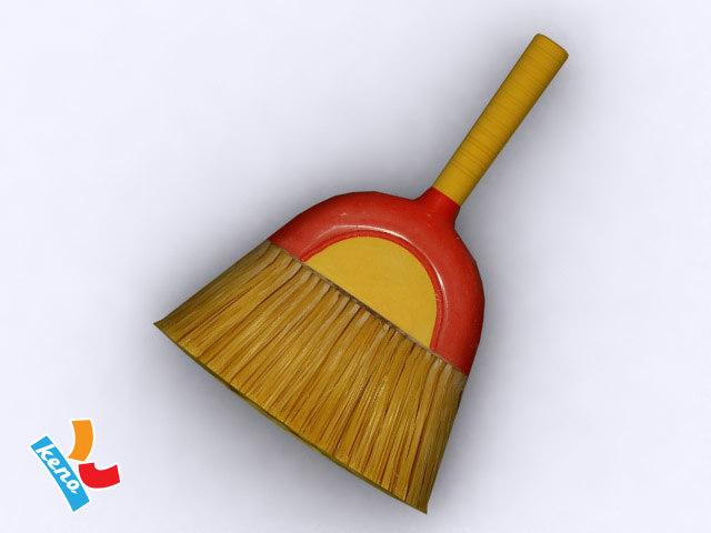 hand broom 3d model
