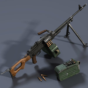 3d pkm machine gun model