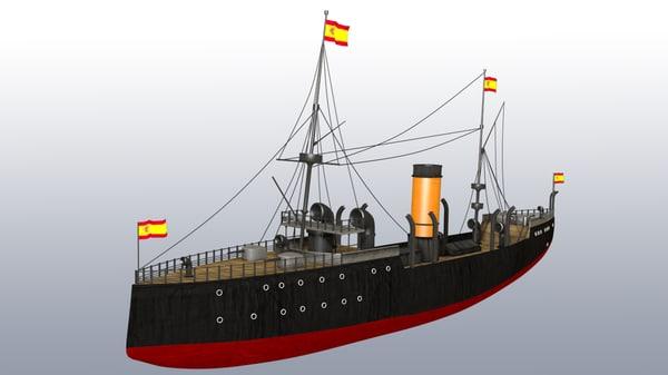 3d old spanish battle