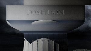 poseidon temple paestum architectural 3d max