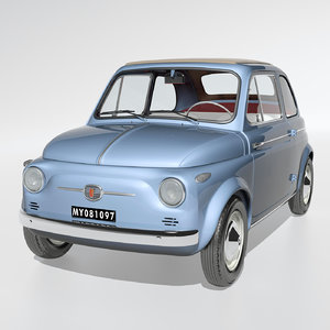 3d model classic fiat nuova 500