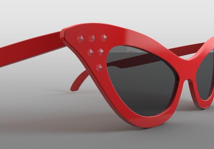 3ds cat eye glasses