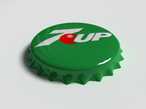 7up bottle tin cap 3d model