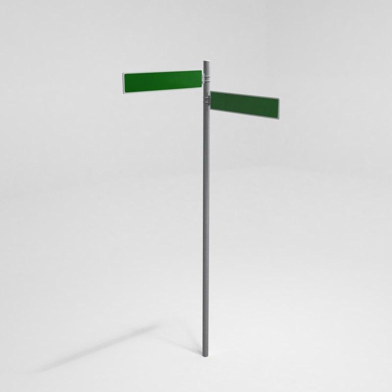 street sign 02 3d model