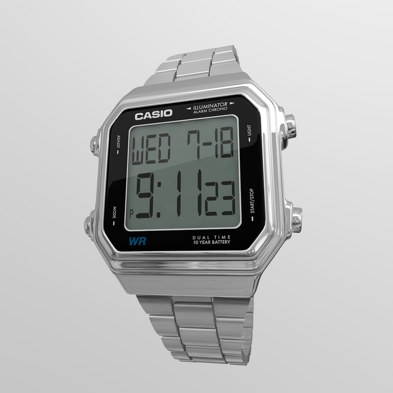 casio watch s 3d model
