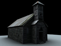 3ds max old church