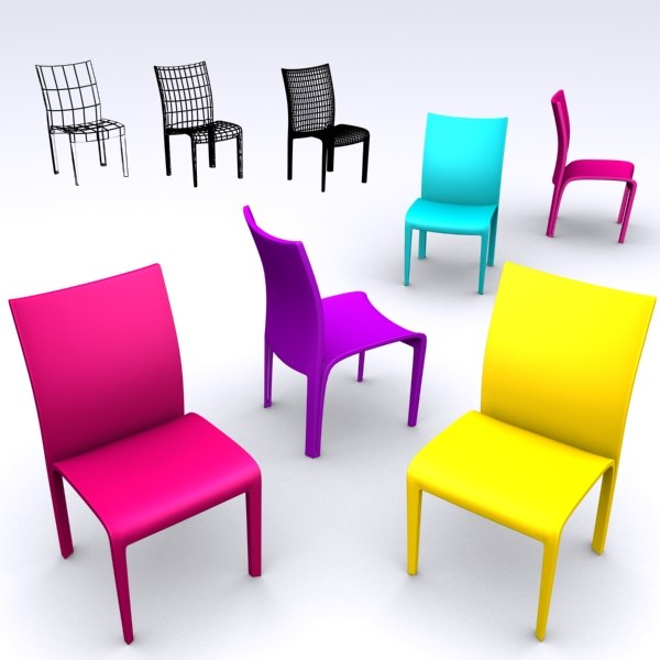 3d model of design chair