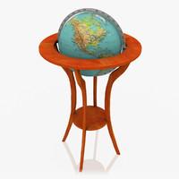 realistic floor globe 3d max