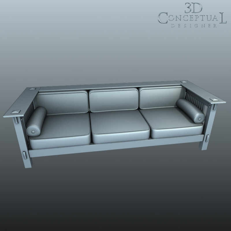 3d styled mission couch sofa