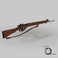 lee enfield 4 3d max