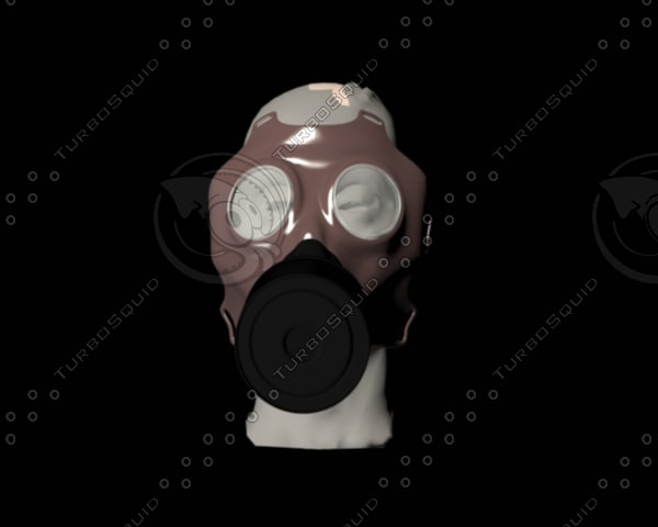 3d gasmask mask gas model
