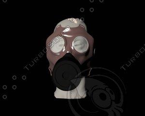 3d gasmask mask gas model