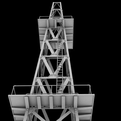 3dsmax oil towers