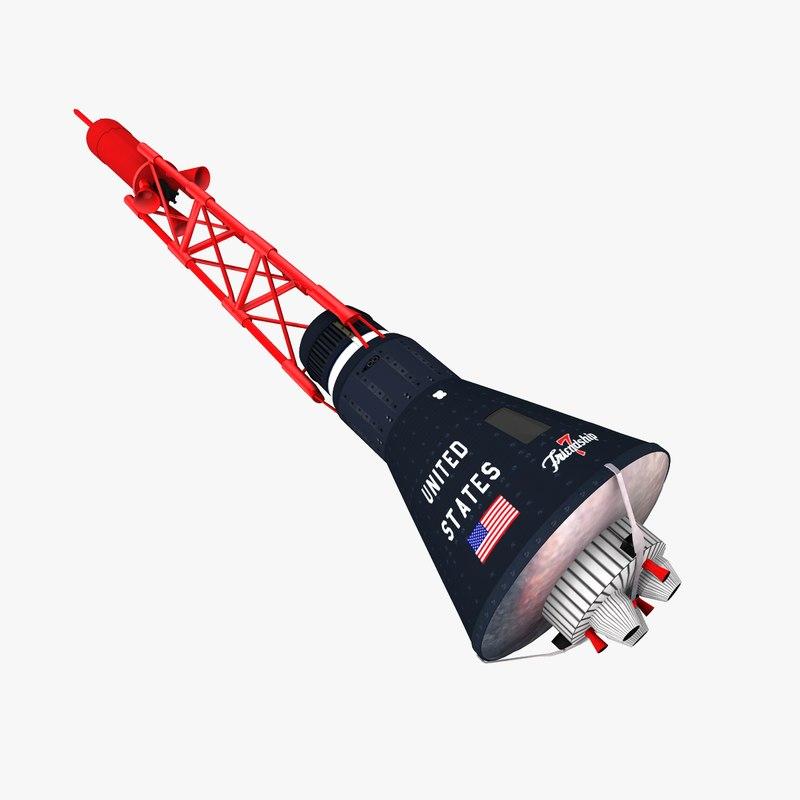 nasa mercury space capsule obj