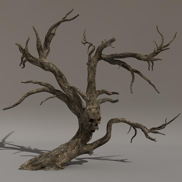 3d model of scary tree