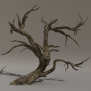 3d model of scary tree