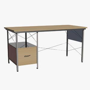 3d herman miller desk model
