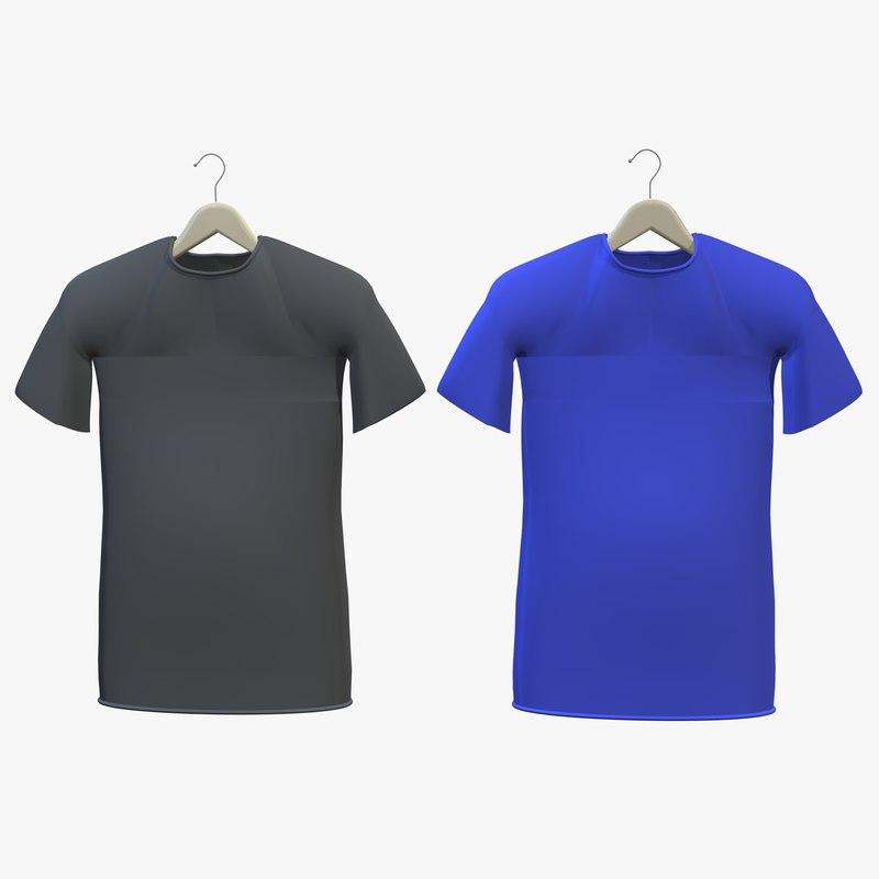t-shirts hanger shirt 3d model