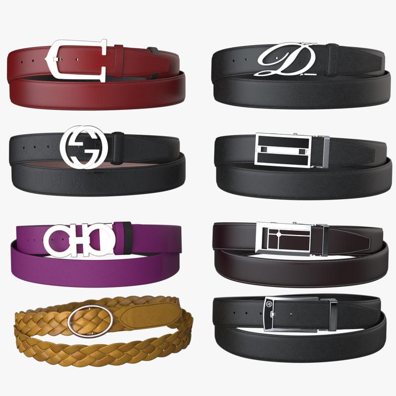 3d model 8 fashion belt