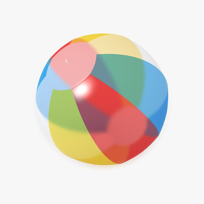 transparent beach ball 3d model