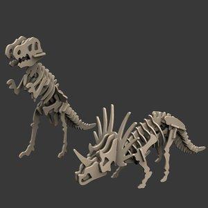 toy dinosaur puzzles 3d max