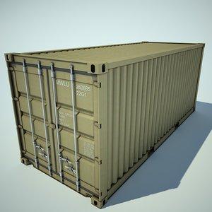 3d model container cargo