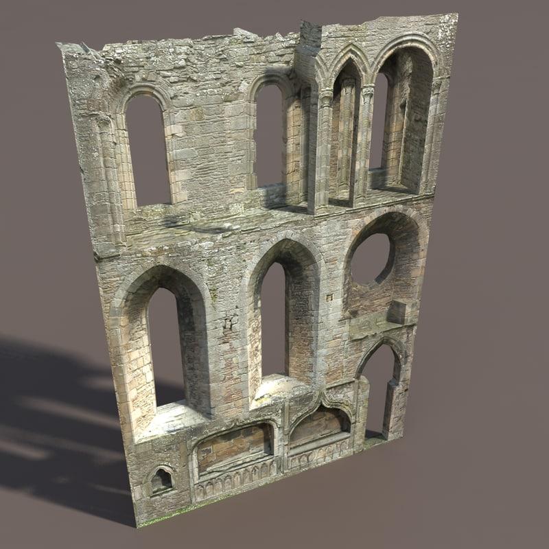 3d castle ruin modelled