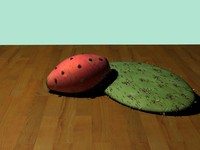 pear cactus prickly 3d model