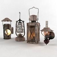 lantern 2010 3d model